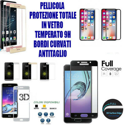 Per Apple Iphone 6 / 6S  Pellicola In Vetro 9H Temperato 3D Curvo Full Integrale