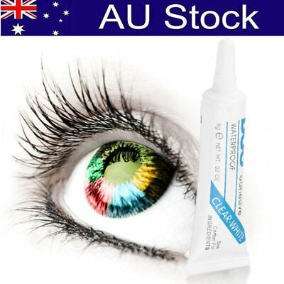 Waterproof DUO Clear White False Eyelashes Makeup Adhesive Eye Lash Glue Black #