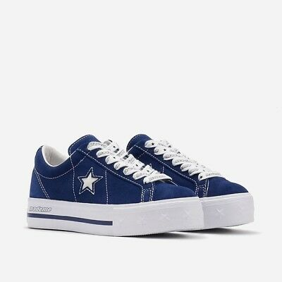 Converse x MadeMe Women s Size 7.5 Low Top Shoes One Star Leather Blue White c437147c7