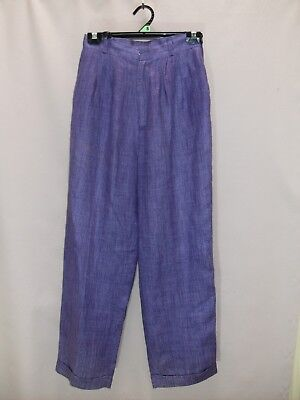 1980's Vintage High Waisted Silk Pants with Tapered Legs.