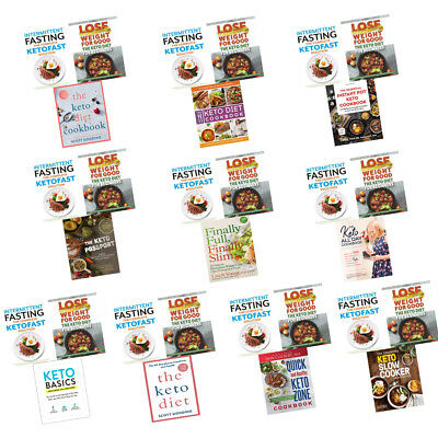 Keto Diet Cookbook Collection Books Quick and Healthy Intermittent Fasting NEW