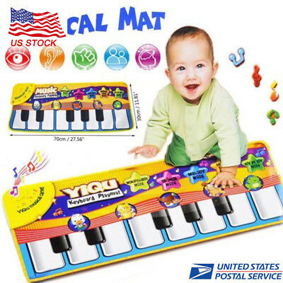 Musical Music Kid Piano Play Baby Mat Animal Educational Soft Kick Toy For Kids