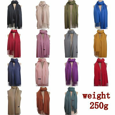 250g/piece Unisex Women Men Pashmina Scarf Shawl Winter Warm Cashmere Blend