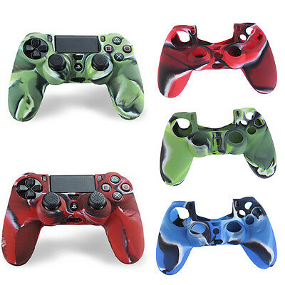 Camouflage Silicone Case Skin Grip Cover For Playstation 4 PS4 Controller FG