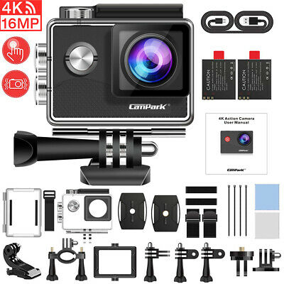 Campark X20 Action Sport Kamera Touchscreen WiFi HD 4K 20MP Wasserdicht Dual LCD