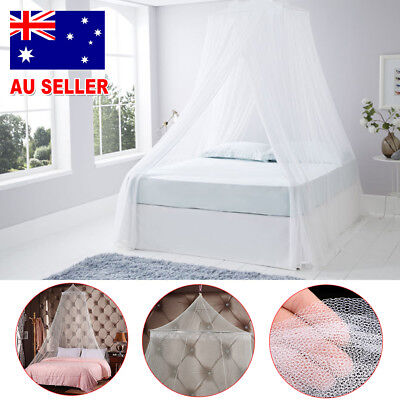 Double Single Queen Canopy Bed Lace Curtain Dome Stopping Mosquito Insect Net