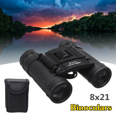 8x21 HD Day Night Vision Binoculars Telescope Folding Camping/Hunting Pocket UK