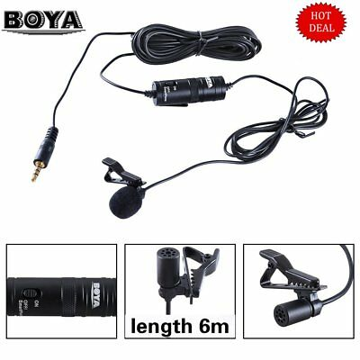 Lavalier Microphone Audio for Boya BY-M1 phone Canon Nikon Sony DSLR Camera IBTY
