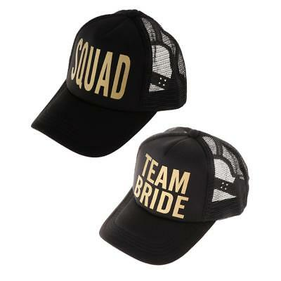 5f40995d99a Team Bride Squad Mesh Hats Hen Party Cap Snapback Hat for Bridal Shower  Party