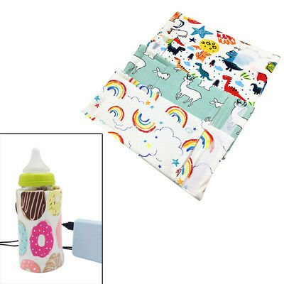 1Pc Portable USB baby milk water bottle warmer heater insulated bag covers  I