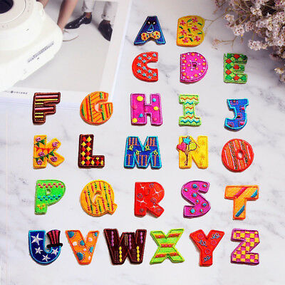 26 Letters Motif Embroidered Sew On Iron On Patch Badge Backpack Fabric Applique