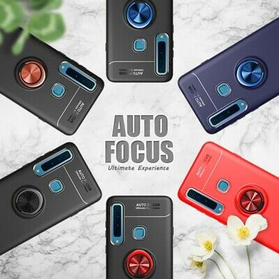 For Samsung Galaxy A9 A7 A6+ 2018 Magnetic Ring Stand Soft TPU Armor Case Cover