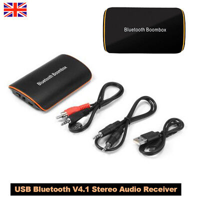 USB Bluetooth V4.1 Stereo Audio Receiver HiFi Music Dongle Aux Box Adapter AH304