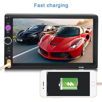 """2 Din 7"""" Bluetooth Touch Screen Handsfree Car Stereo Radio FM USB AUX MP5 Player"""