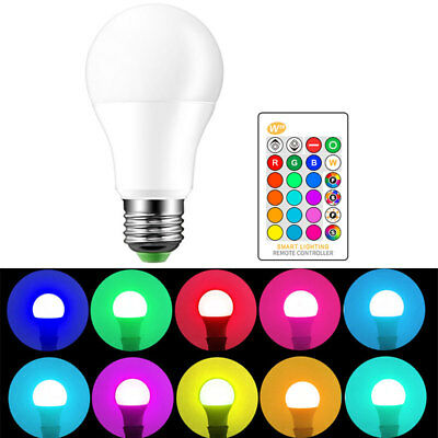 E27 16 Color Changing 3W/5W/10W RGB LED Lamp Light Bulb+ Wireless Remote Control