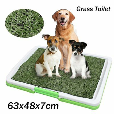 46*32*5 cm  Puppy Pet Potty Training Pee Indoor Toilet Dog Grass Pad Mat Turf@G2