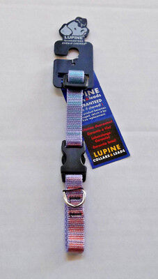 "Lupine 1/2"" Adjustable Dog Collar "" Cotton Candy "" ( 8 - 12"") ~ NEW"