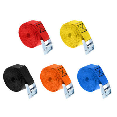5Pcs/set Car Roof Luggage Fixed Strap Rope Quick Release Cam Buckle Tie Down