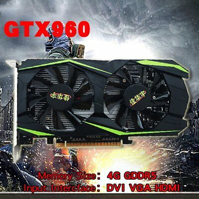 For NVIDIA GeForce GTX960 4GB DDR5 128Bit PCI-E Gaming Video Graphics Card HZ