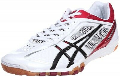 ASICS Japan Men's Attack EXCOUNTER Table Tennis Shoes TPA327 White Red Ping Pong
