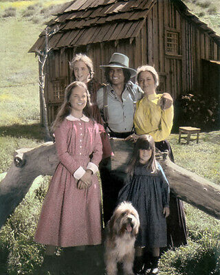 """LITTLE HOUSE ON THE PRAIRIE TELEVISION ACTORS 8x10"""" HAND COLOR TINTED PHOTOGRAPH"""