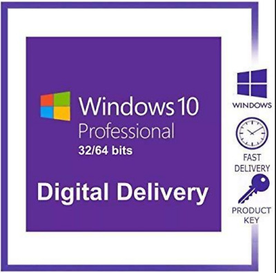 Microsoft Windows 10 Pro 32/ 64 bit Genuine License Activation Key Win 10 Pro