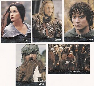 20 Different Lord Of The Rings Cards, 2004, The Return Of The King, Nice Lot 3.