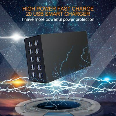 Fast Charging Charger High Power 20 Ports USB For Tablet Laptop Smartphone EC
