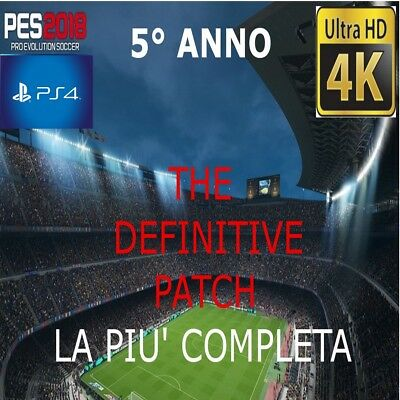 PATCH Option file Pes 2018 Ps4