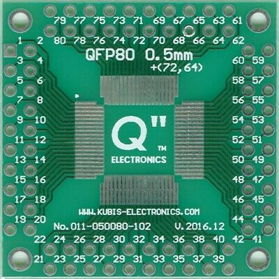 "QFP80,LQFP80,TQFP80 0.50mm(0.02"") to 4 x IDC2x10 connector. [US]"