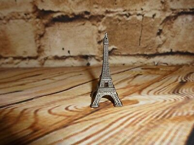 "Eiffel Tower Paris France Miniature Statue Metal Figure 2"" Souvenir"