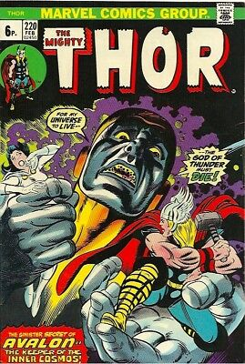 The Mighty Thor #220  February 1974 Pence Issue. (Vfn+)