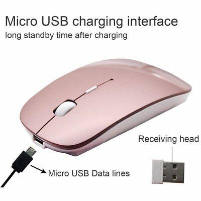 Rechargeable 2.4GHz Wireless Optical Sensor Mouse Mice+USB Receiver fr Laptop HZ