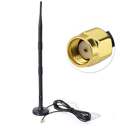 SMA WiFi Router Antenna Extension Cable Wire Connector With Magnetic Base DE6