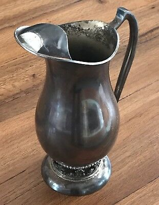 "Elegant Sheffield Silver Co 10"" Silverplate Water Pitcher With Ice Catcher"