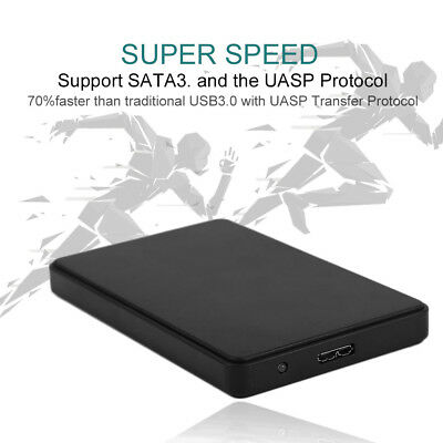 USB 3.0 Hard Drive External Enclosure 2.5 inch SATA HDD Mobile Disk Box Case BY