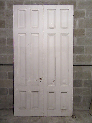 ~ Antique Double Entrance French Doors Solid Raised Panels ~ 54 X 100 ~ Salvage