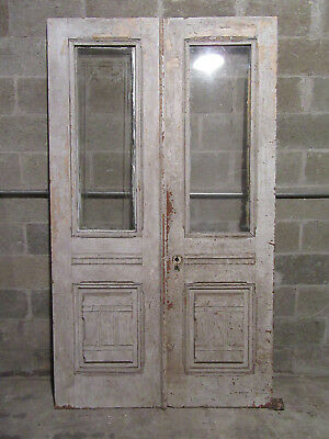 ~ Ornate Antique Double Entrance French Doors ~ 48 X 84 ~ Architectural Salvage