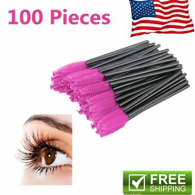 50/100x Disposable Eyelash Brush Mascara Wands Extension Applicator Spoolers US