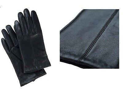 Ladies Women Leather gloves Winter Driving Office Outdoor Party New Warm Black