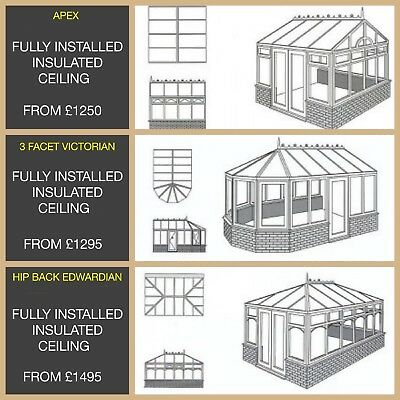 .Insulated P Shape conservatory Warm Roof 4M X 5M Supplied And Installed £1495