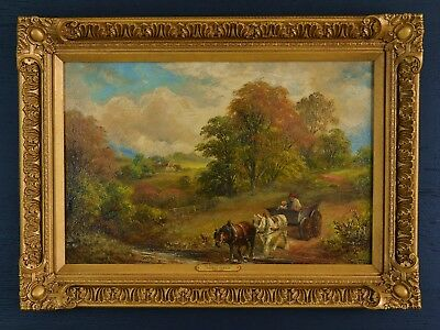 A Fine Original 19th Century Oil On Canvas By George Turner 1841-1910
