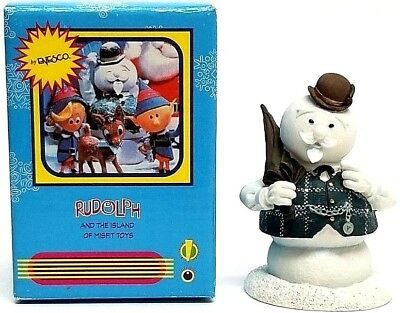 ENESCO Sam Snowman Mini Figurine In Box - Island of Misfit Toys Collection 2002
