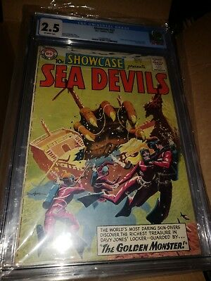 Showcase #27, 1st Appearance of the Sea Devils, CGC Graded 2.5