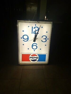 Pepsi Lighted Clock Large Size Working
