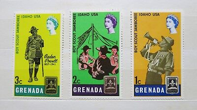 1982 Grenada Boy Scout Jamboree 3 Stamp Set MUH