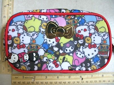 171657 Loot Crate HELLO KITTY SANRIO Multi Character Cosmetic Zip Pouch NEW