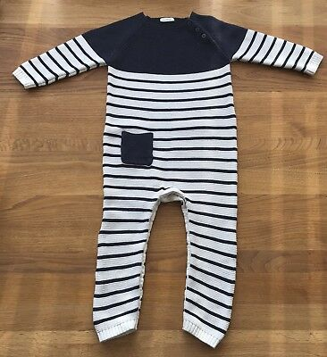 Next Baby Boys Navy/white All In One Romper 18-24 Months 1.5-2 Years