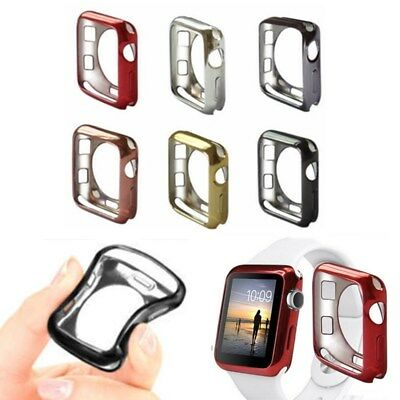 Silicone Bumper Protector Case Cover For Apple Watch iWatch Series 1-4 38/44mm
