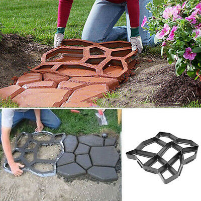Driveway Paving Pavement Mold Concrete Path Garden Walk Maker Mould Funny DIY 1x